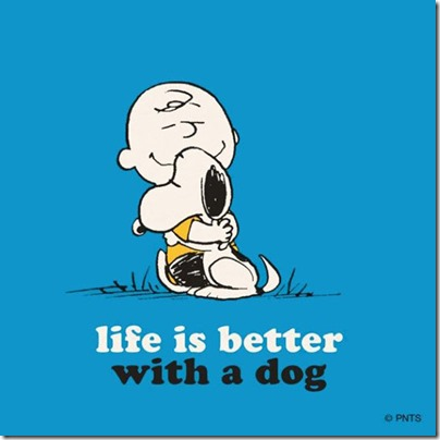 life is better with a dog, Charlie Brown and Snoopy