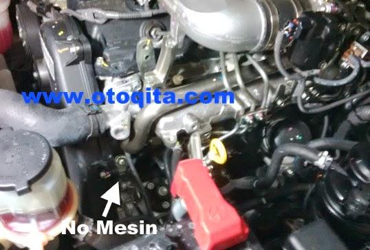 Posisi nomor mesin kijang innova diesel 2013