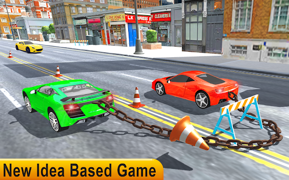 Taxi Jump Over Car Game