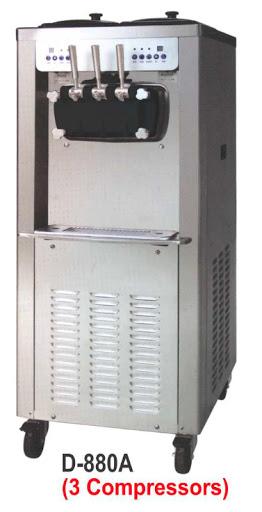 Mesin Pembuat Soft Ice Cream Kapasitas 220 Cone (Soft Ice Cream & Frozen Yoghurt Machine) : D-880A