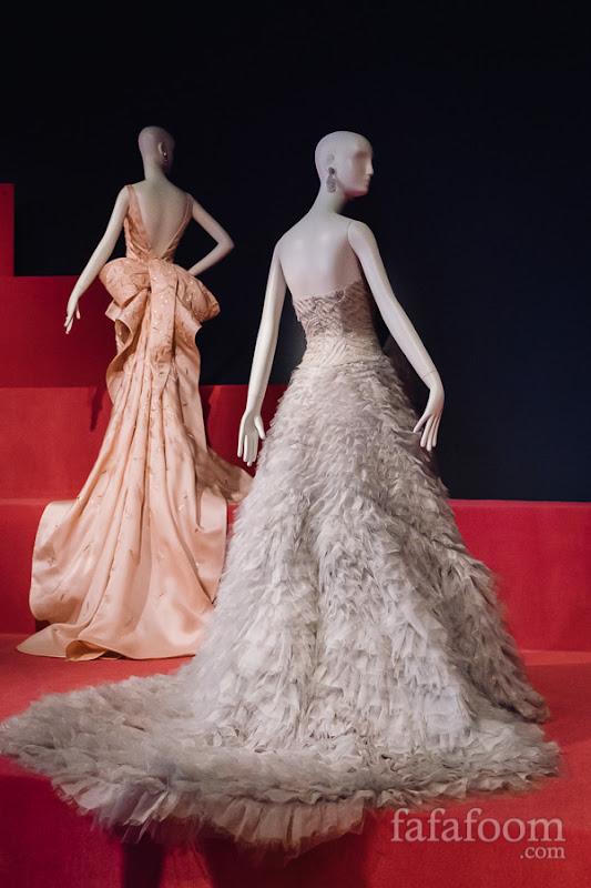 (Front) Oscar de la Renta, Custom evening dress, Spring 2013.