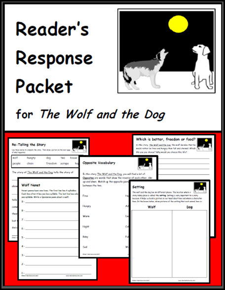 the dog and the wolf reader's response packet