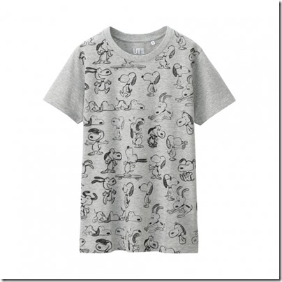 UNIQLO UT X Peanuts Movie Women Short Sleeve Graphic T-Shirt 01