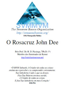 Cover of Dr RD Pizzinga's Book Public Monography O Rosacruz John Dee Portuguese Version