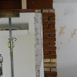 Pinant /poer gemetselt extra ondersteuning voor balk