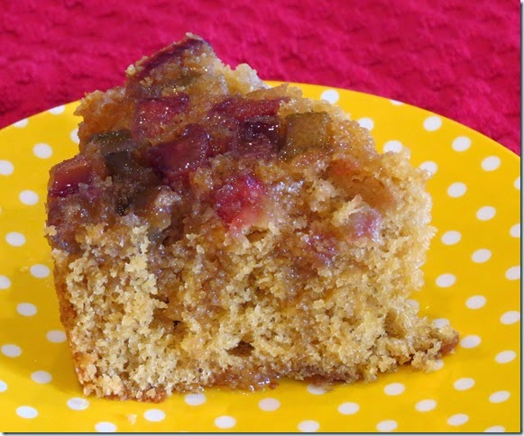 Gluten Free Rhubarb Upside Down Brown Sugar Cake