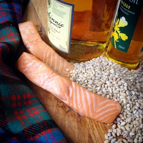 Scottish Barley & Hot Smoked Salmon Salad with a Scottish Rapeseed Oil & Whisky Dressing for The Big Lunch
