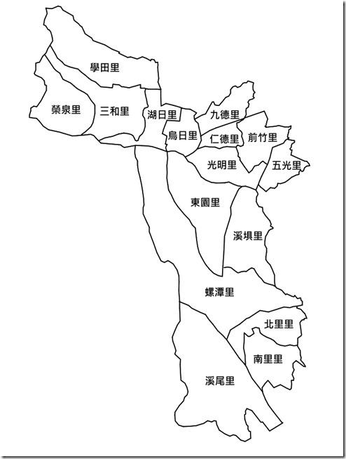 烏日區16里行政區圖_字