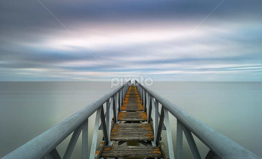 Infinity ! by Emanuel Fernandes - Buildings & Architecture Bridges & Suspended Structures ( water, clouds, portugal, long, bridge )