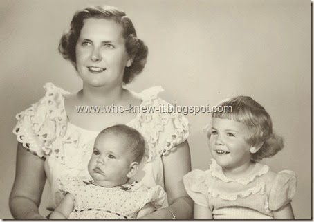 Page 1 - The 3 Girls - May 1955 - Quite a Family
