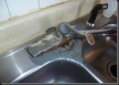 Our faucet....Before.