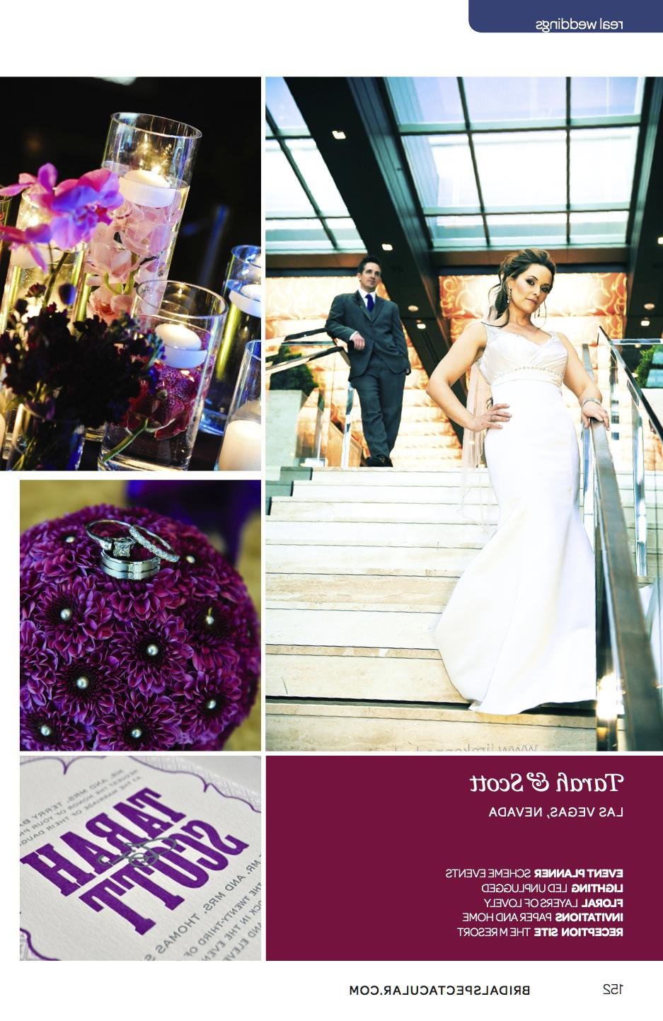 purple and gray wedding