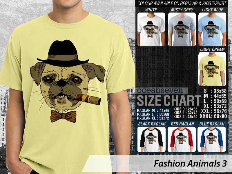 Kaos Fashion Animals 3 Binatang Anjing Dog distro ocean seven