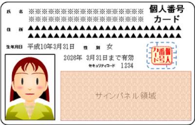 Thông tin trên thẻ My number của nhật