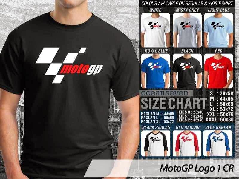 KAOS MotoGP Logo Otomotif distro ocean seven