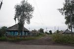 Typische Straße am Stadtrand von Anschero-Sudschensk / Типичная улица на окраине Анжеро-Судженска