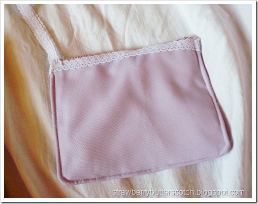 Matching Purple Zippered Pouch with Lace