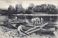 Occasional postcard showed building a pontoon brigde