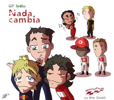анимешная картинка Noe Izumi по Гран-при Индии 2012