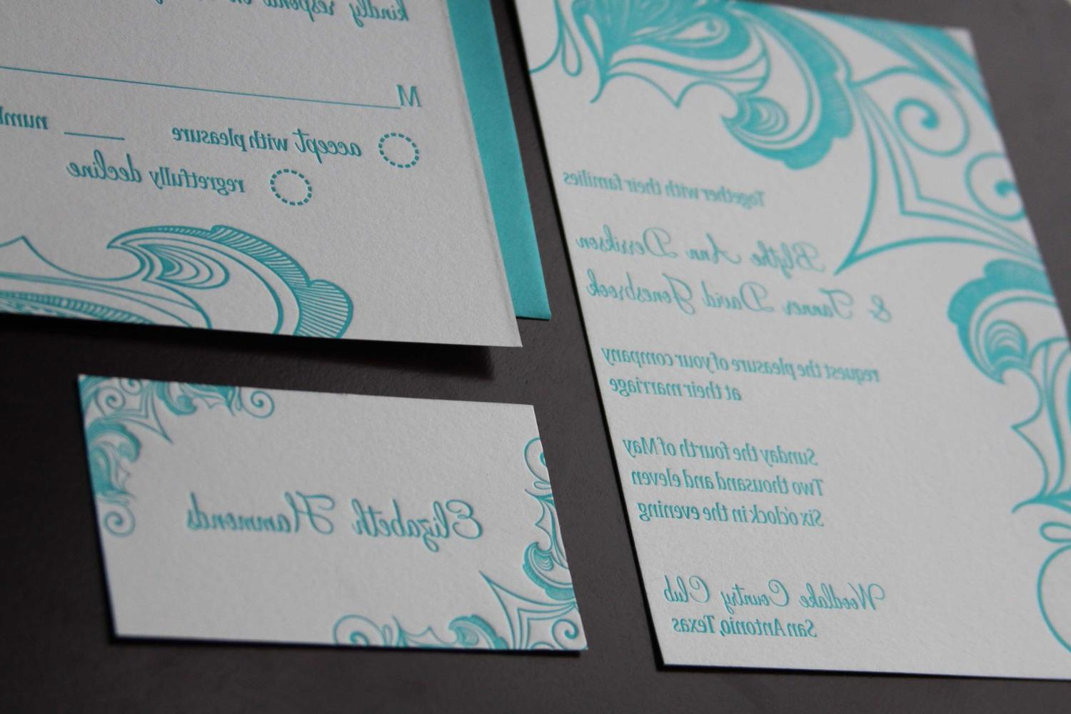Brezza letterpress wedding