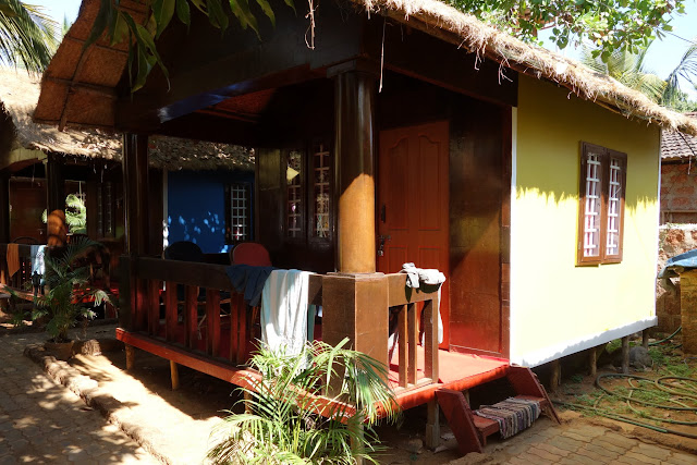 My hut at Casa Fiesta, Patnem Beach.
