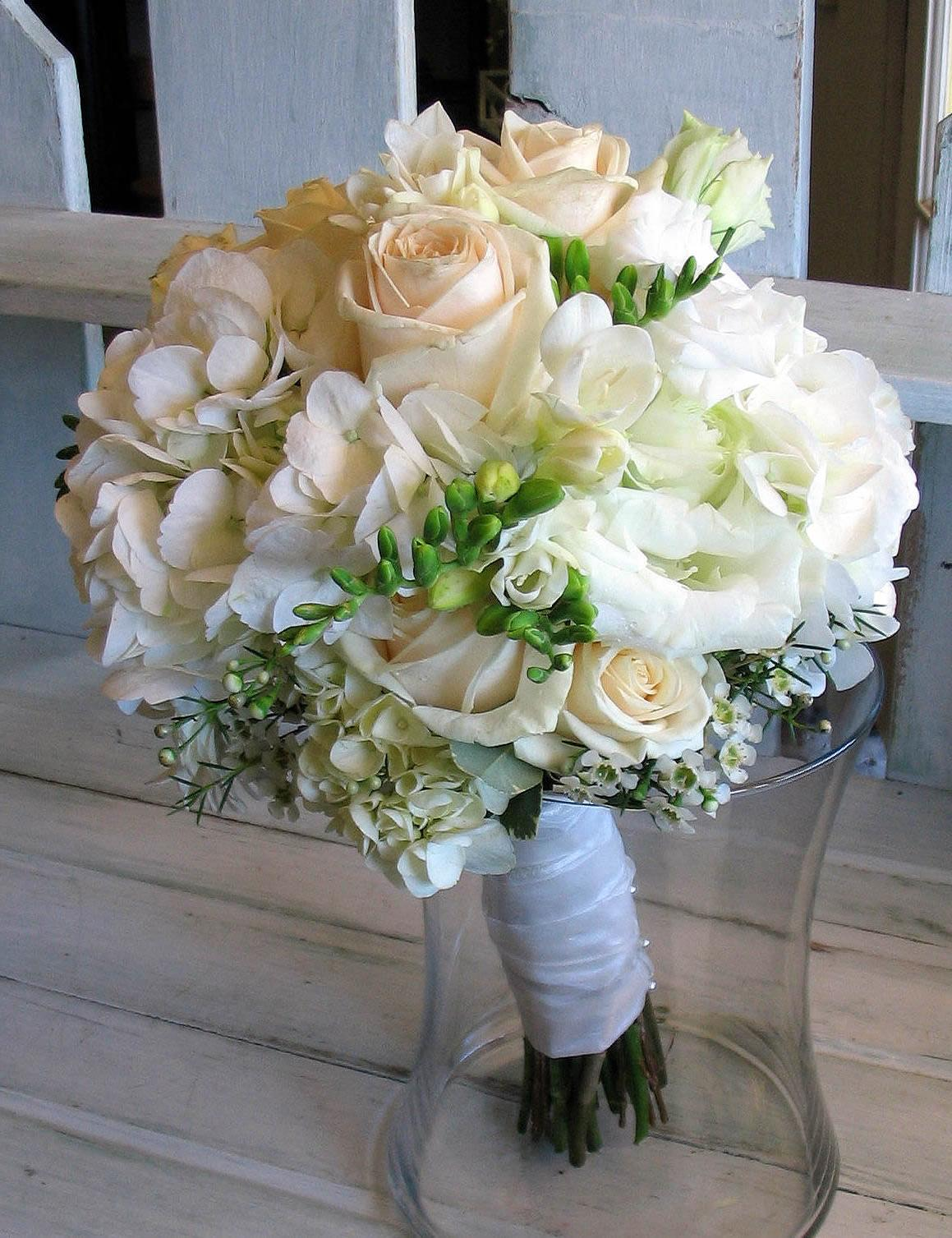 in a large formal bouquet,