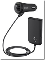 Belkin road Rockstar car charger with 4 ports