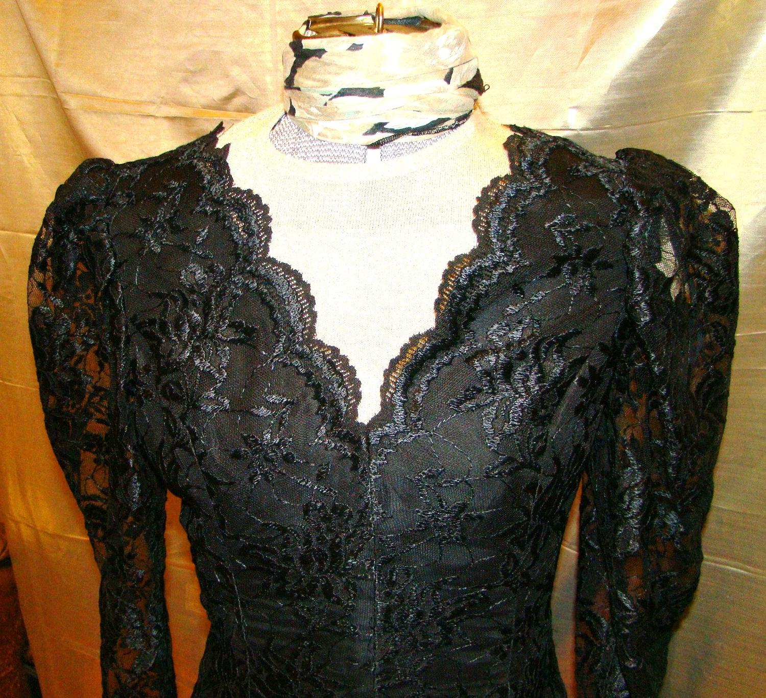 Vintage 70s Victorian Mourning