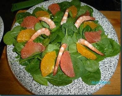 ensalada verde con langostinos al aroma de citricos2 copia