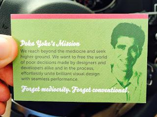 My Poka Yoke Design business card