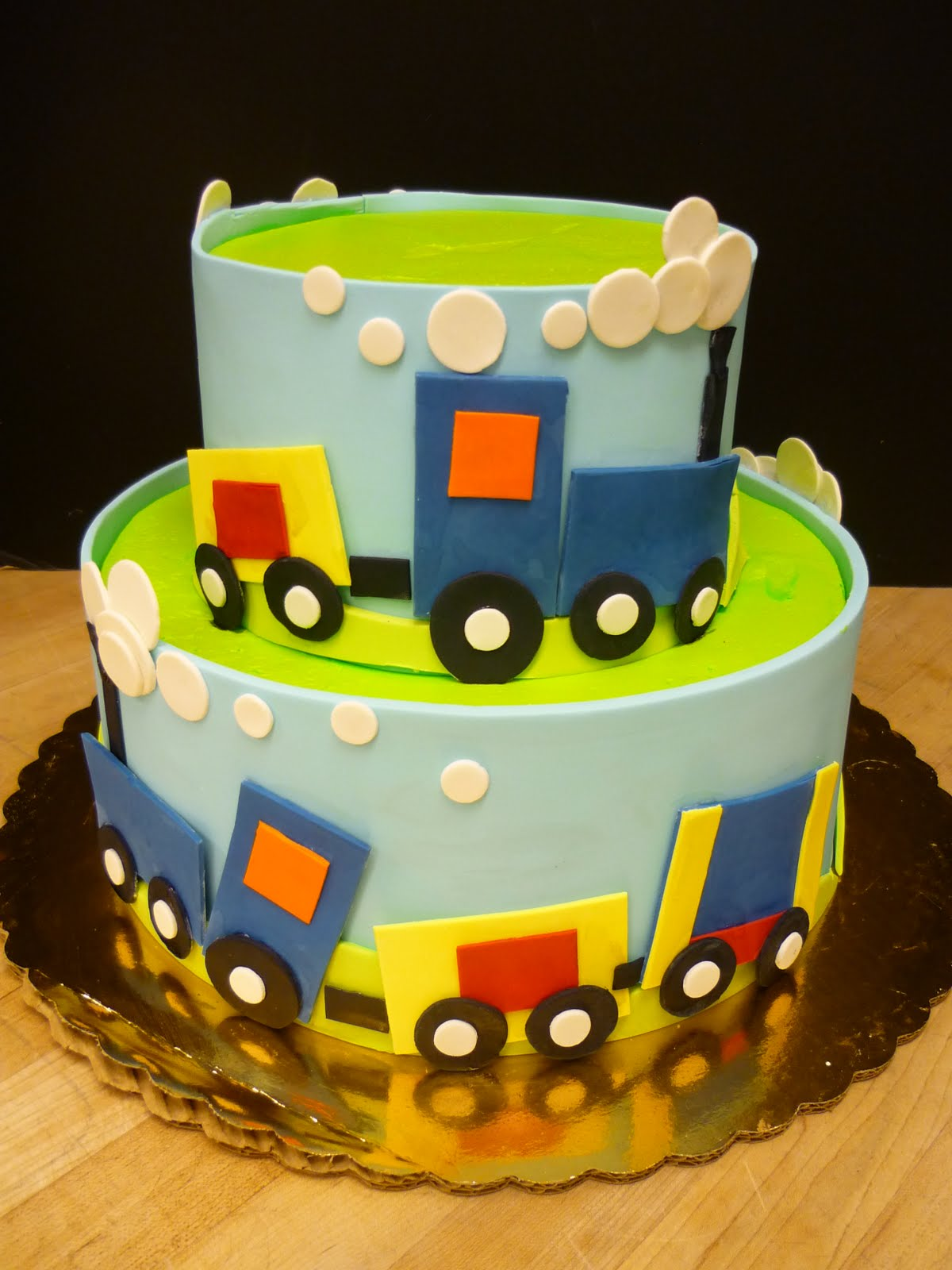 Fourth Birthday Train Cake