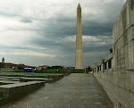 World War II Memorial and the Washington Monument, National Mall in Washington, DC.