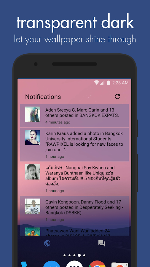 Swipe Widget for Facebook BETA Screenshot 4
