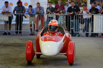 Кими Райкконен на Эко-Марафоне Shell перед Гран-при США 2014