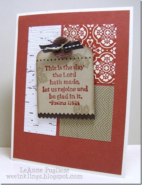 LeAnne Pugliese WeeInklings TSOT241 This is the Day Stampin Up