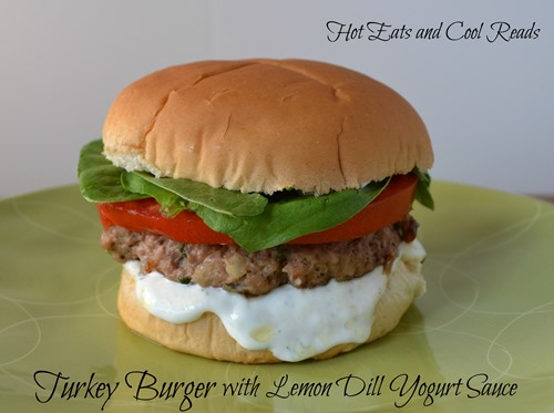turkey burger lemon dill sauce