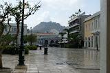 Regen in Zakynthos-Stad.