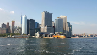 Pulling away from Manhattan