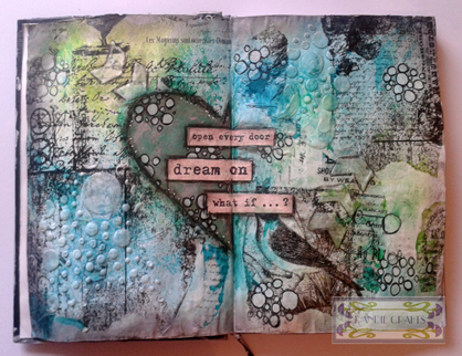 04.10.15 Dbl Journal Page Flat - Use a Stencil Challenge Oct 15