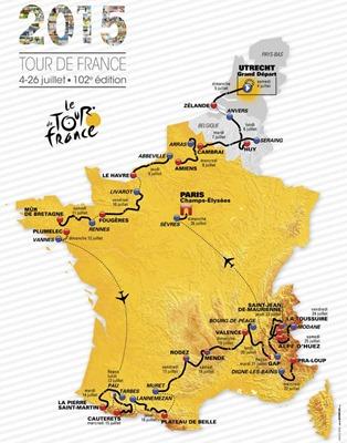 TDF 2015 carte