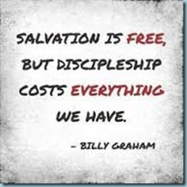 Discipleship costs