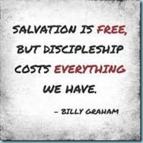 Discipleship costs