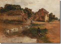 Léon_Augustin_Lhermitte_-_L'étang_aux_canards
