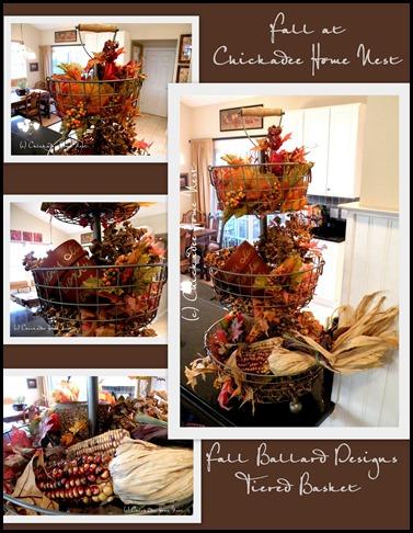 Fall home tour, Chickadee Home Nest, SL Ballard Designs 3-Tiered Basket