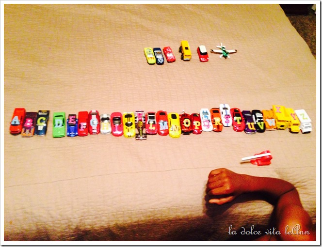 Alphabet race cars