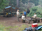 A typical campsite scene at Royce-Finel.