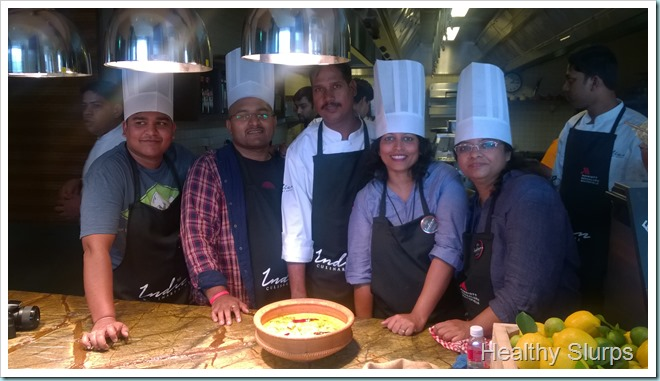 The proud Team members with Chef Ranjit Singh