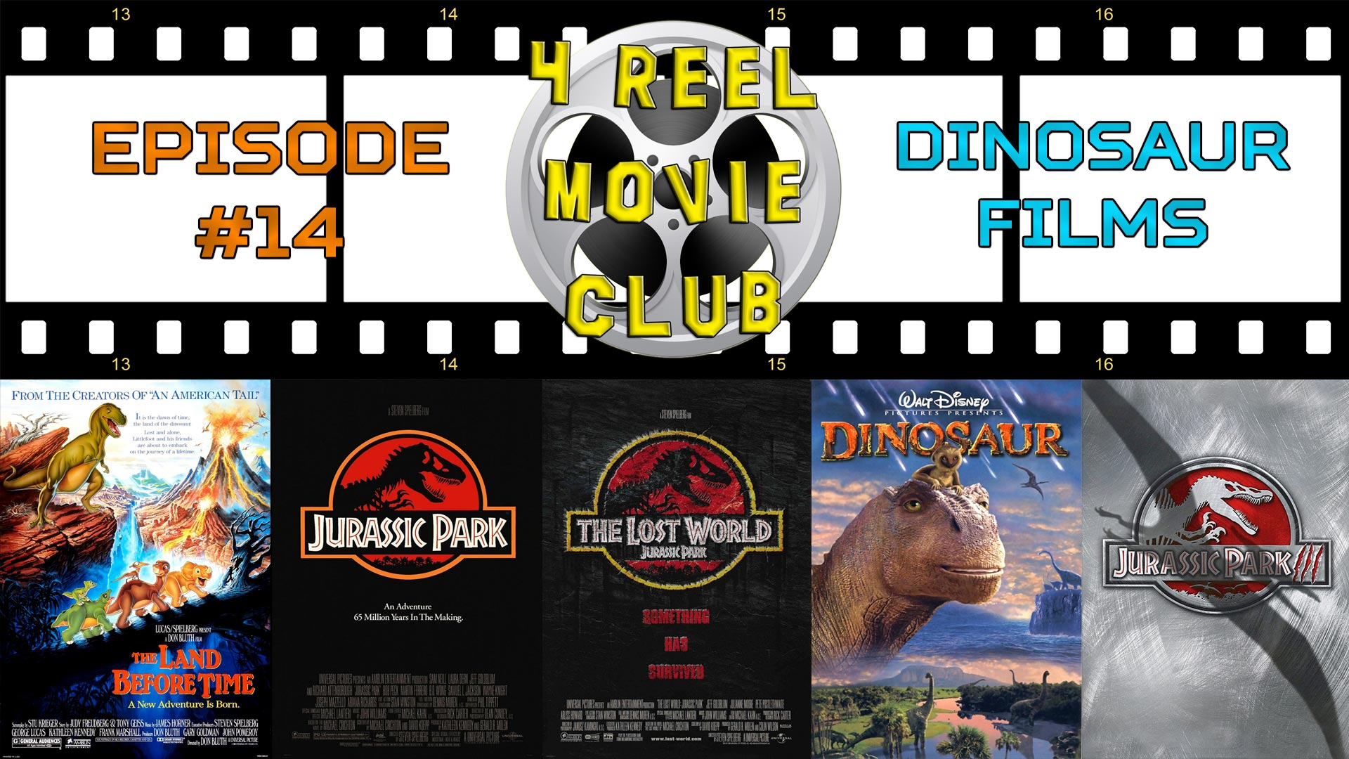The Land Before Time, Jurassic Park, The Lost World: Jurassic Park, Dinosaur, Jurassic Park III