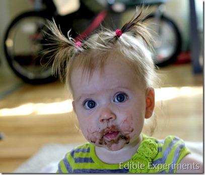 Stella eating chocolate banana shake
