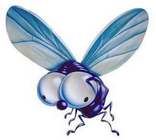 Dibujo de una mosca con ojos enormes